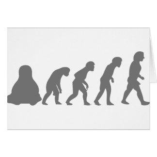 LINUX TUX EVOLUTION GREETING CARD
