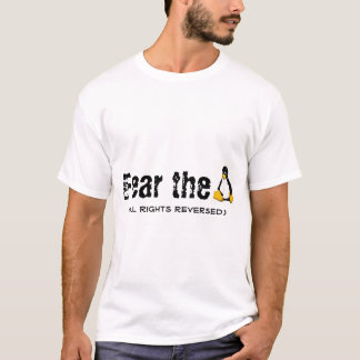 Linux/Tux 'Fear the Penguin' T-Shirt