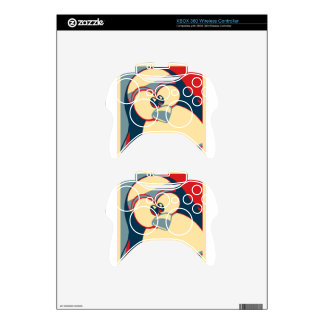 Linux Tux Obama poster red blue Xbox 360 Controller Skin