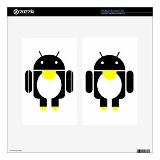 Linux Tux penguin android Decal For Kindle Fire