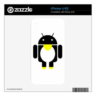 Linux Tux penguin android Decals For iPhone 4S