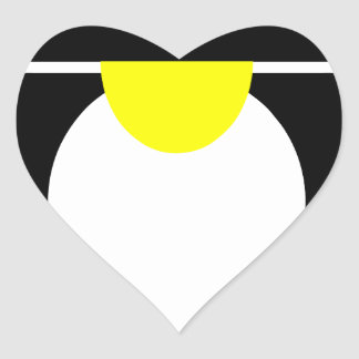 Linux Tux penguin android Heart Sticker