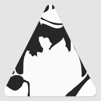 Linux tux Penguin Che Triangle Sticker