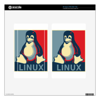 Linux tux penguin classic obama poster decal for kindle fire