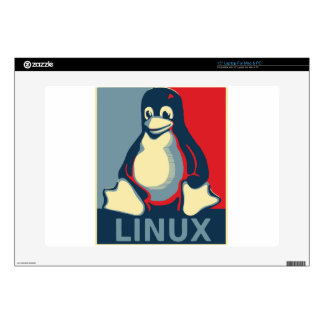 """Linux tux penguin classic obama poster decals for 15"""" laptops"""