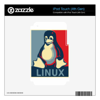 Linux tux penguin classic obama poster iPod touch 4G decals