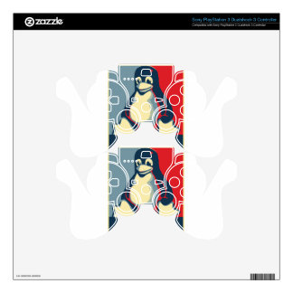 Linux tux penguin classic obama poster PS3 controller decals