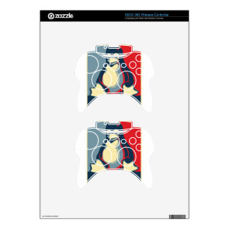 Linux tux penguin classic obama poster xbox 360 controller skin