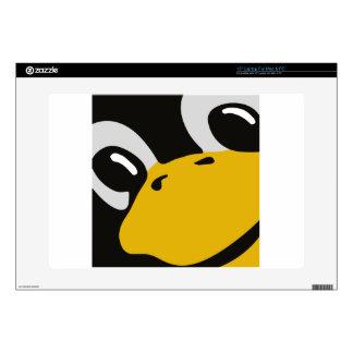 """linux tux penguin eyes portrait 15"""" laptop decals"""