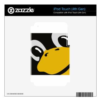 linux tux penguin eyes portrait iPod touch 4G decal