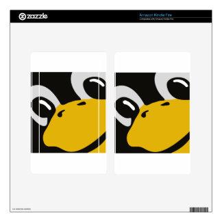 linux tux penguin eyes portrait kindle fire decal