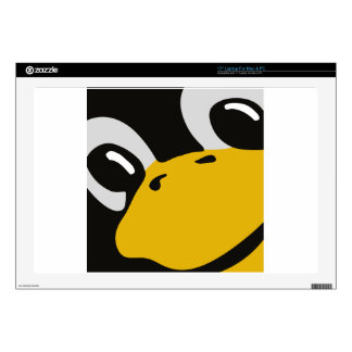 linux tux penguin eyes portrait laptop skin