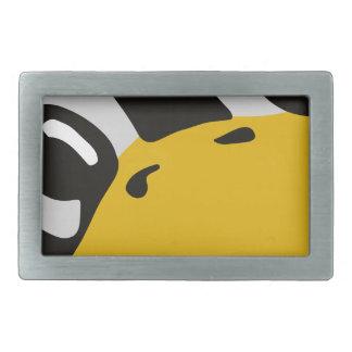 linux tux penguin eyes portrait rectangular belt buckle