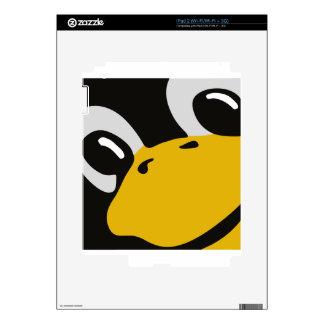 linux tux penguin eyes portrait skin for iPad 2