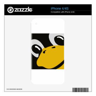 linux tux penguin eyes portrait skins for the iPhone 4