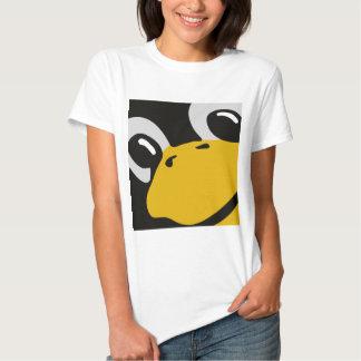 linux tux penguin eyes portrait t shirt