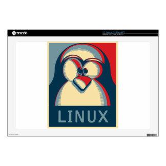 "Linux tux penguin obama poster logo 17"" laptop skin"