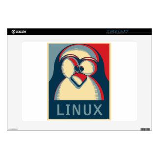"Linux tux penguin obama poster logo decal for 15"" laptop"