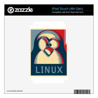 Linux tux penguin obama poster logo iPod touch 4G skins