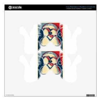 Linux tux penguin obama poster logo PS3 controller skin