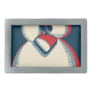Linux tux penguin obama poster logo rectangular belt buckle