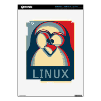 Linux tux penguin obama poster logo skins for iPad 3