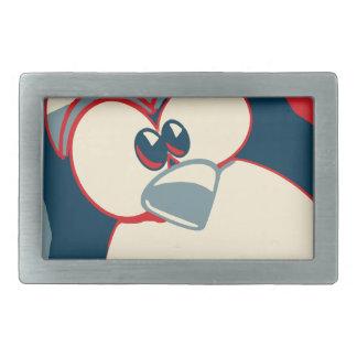 Linux Tux penguin Obama poster Rectangular Belt Buckle