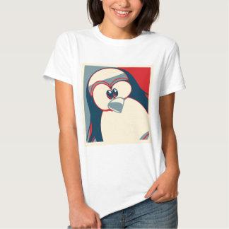 Linux Tux penguin Obama poster Shirt