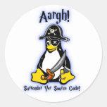 Linux Tux Penguin Pirate Sticker White Ubuntu Mint
