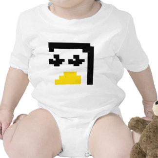 LINUX TUX PENGUIN PIXEL FACE BABY CREEPER