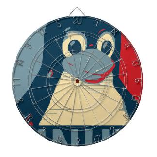 Linux Tux penguin poster head red blue Dartboard