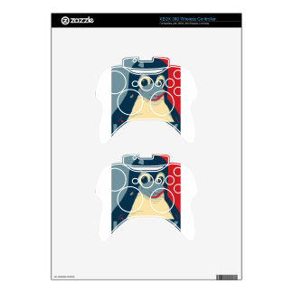 Linux Tux penguin poster head red blue Xbox 360 Controller Skins
