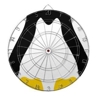 linux tux penguin symbol dartboard