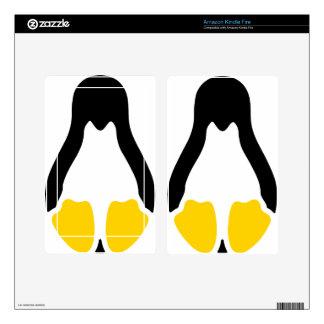 linux tux penguin symbol kindle fire skin
