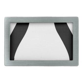 linux tux penguin symbol rectangular belt buckle