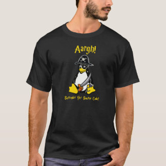 Linux Tux Pirate Dark T-Shirt