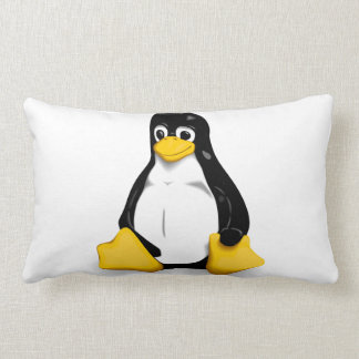 Linux Tux Products Lumbar Pillow