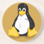 Linux Tux Products Sandstone Coaster