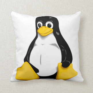 Linux Tux Products Throw Pillow