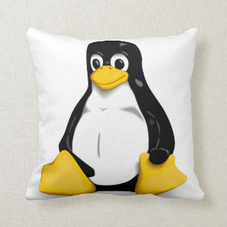 Linux Tux Products Throw Pillows