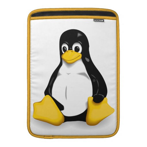 Linux Tux Tablet Case Sleeve For MacBook Air