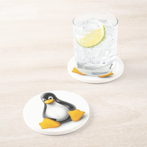 Linux Tux the Penguin Drink Coasters