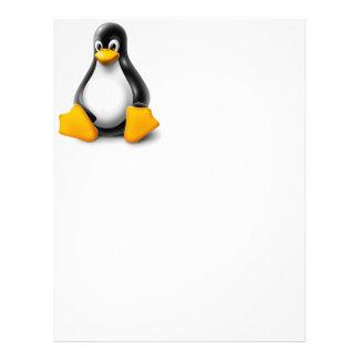 Linux Tux the Penguin Letterhead