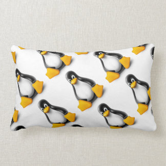 Linux Tux the Penguin Lumbar Pillow