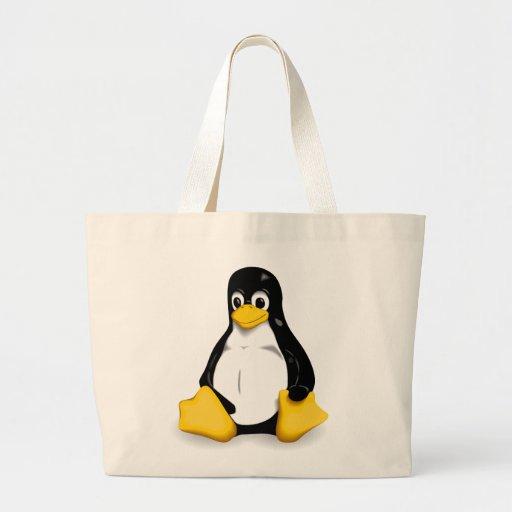 Linux Tux Tote Bags