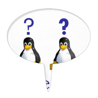 LinuxQuestions.org Logo Cake Pick