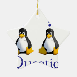 LinuxQuestions.org Logo Ceramic Ornament