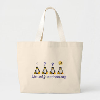LinuxQuestions.org Logo Large Tote Bag