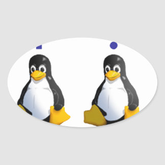 LinuxQuestions.org Logo Oval Stickers