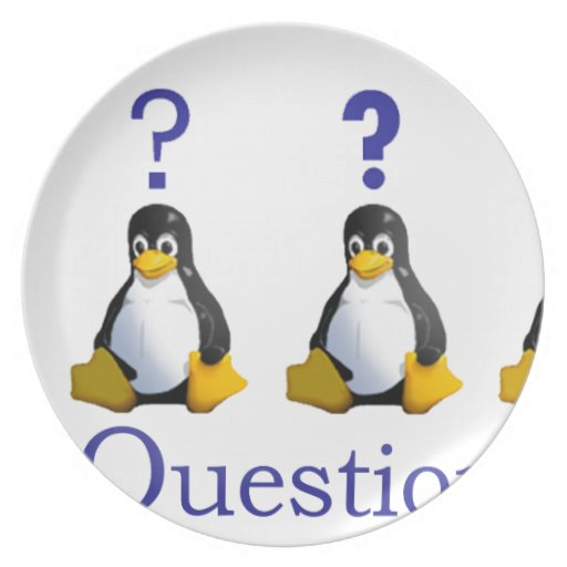 LinuxQuestions.org Logo Party Plate